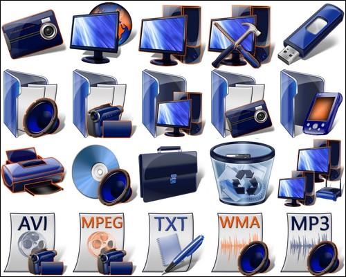 Иконки Blue Icons