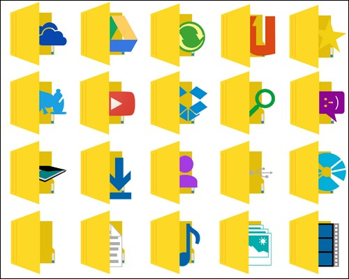 Иконки Metro Aero folder icons