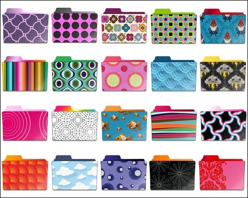 Иконки Pattern Folder icons set 2