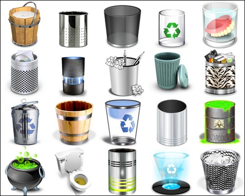 Иконки Recycle Bin Icons