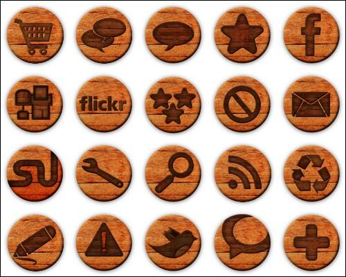 Иконки Wooden Badge