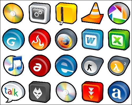 3D иконки для программ