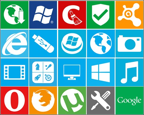 Иконки Windows metro icons