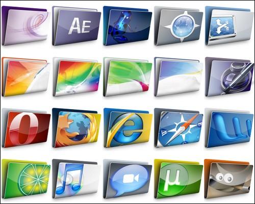 Иконки Aqua X icons