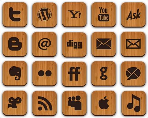Иконки Wooden icons
