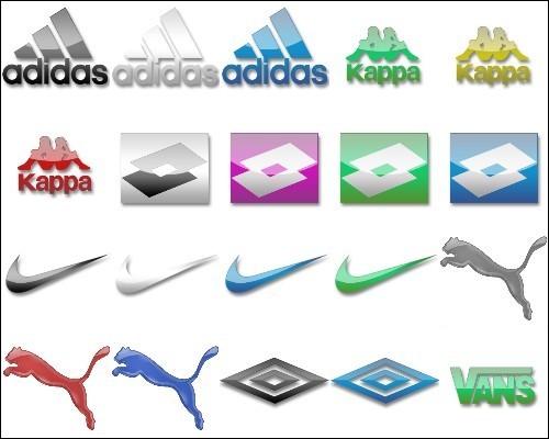 Иконки - Adidas, Kappa, Lotto, Nike, Puma, Umbro, Vans